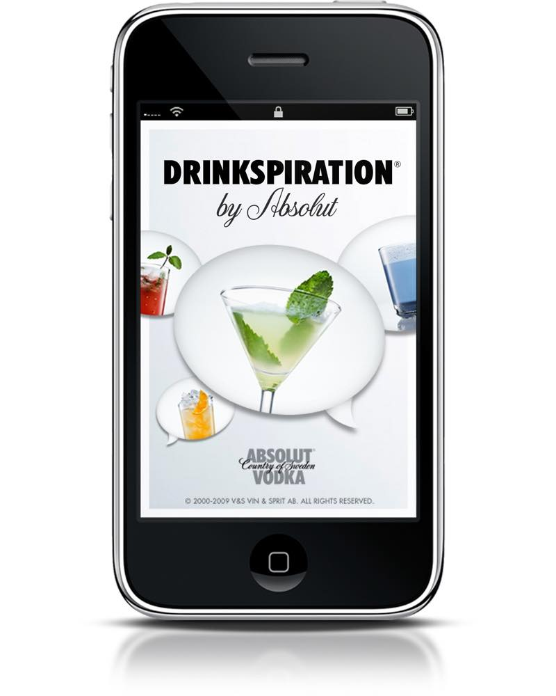 Absolut Vodka launches app for iPhone and Google Android