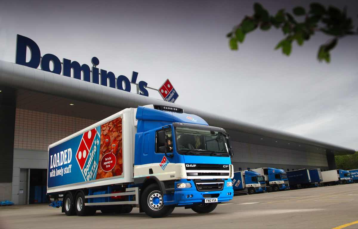 domino s pizza reveals new fleet of delivery vehicles foodbev media. Black Bedroom Furniture Sets. Home Design Ideas
