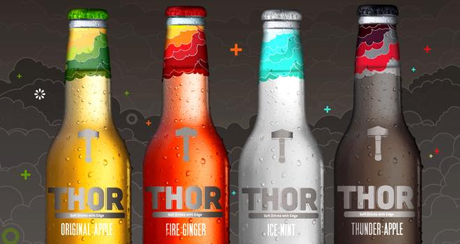 Thor carbonated soft drinks for adults