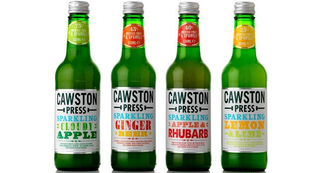 Cawston launches new sparkling flavours in 330ml glass bottles