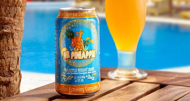 Mr Pineapple Wheat Ale in 12oz Rexam cans