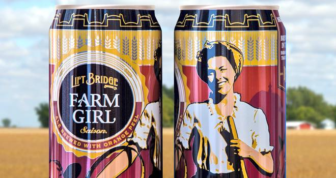 Farm Girl Saison in 16oz cans from Rexam