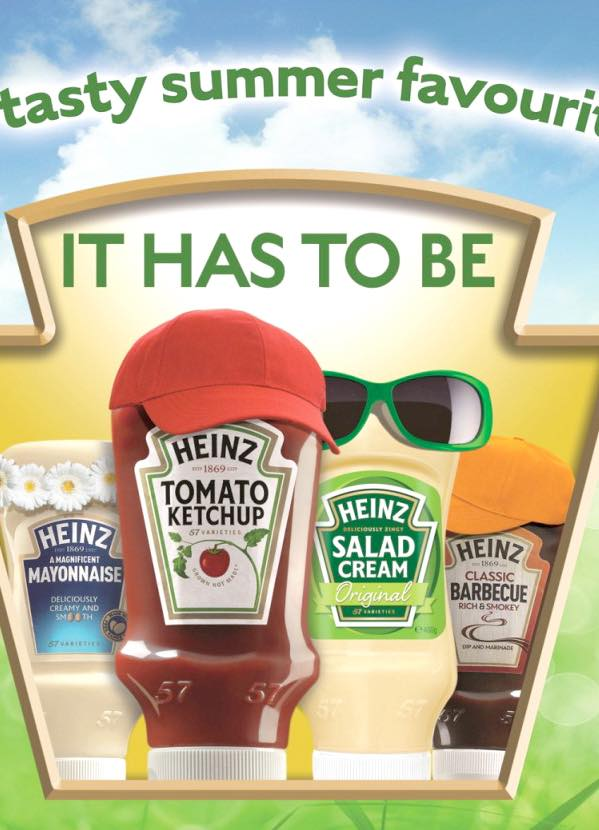 Heinz encourages sauce sales for barbecue season in the UK