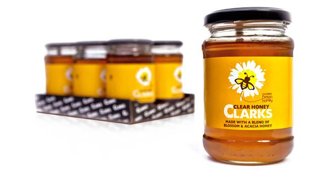 Leahy Brand Design creates identity for Clarks Clear Honey