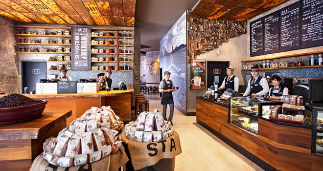 Starbucks opens new design concept stores in China ...