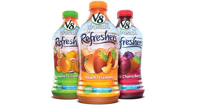 V8 V-Fusion Refreshers juice drink from Campbell Soup Company