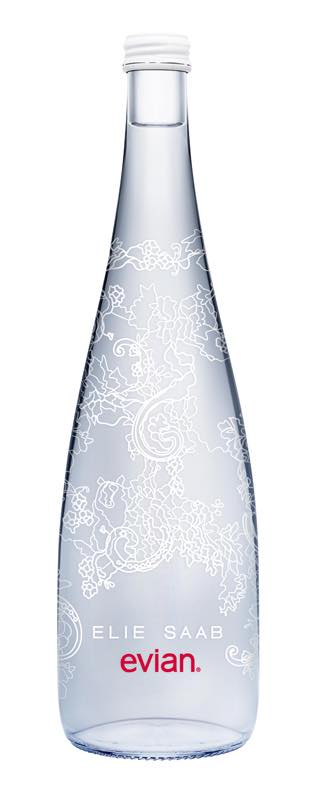 Evian launches limited edition bottle designed by Elie Saab