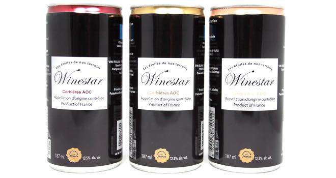 WineStar medal-winning wines in Ball aluminium cans