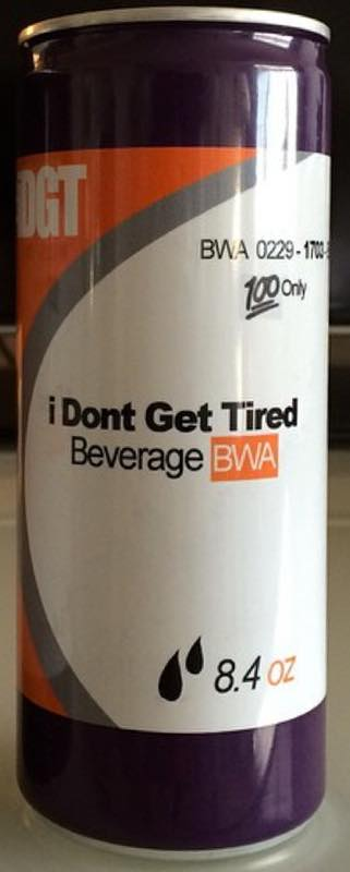 I Don't Get Tired energy drink from Kevin Gates