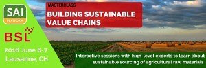 Master Class: Building Sustainable Value Chains @ Business School Lausanne | Switzerland