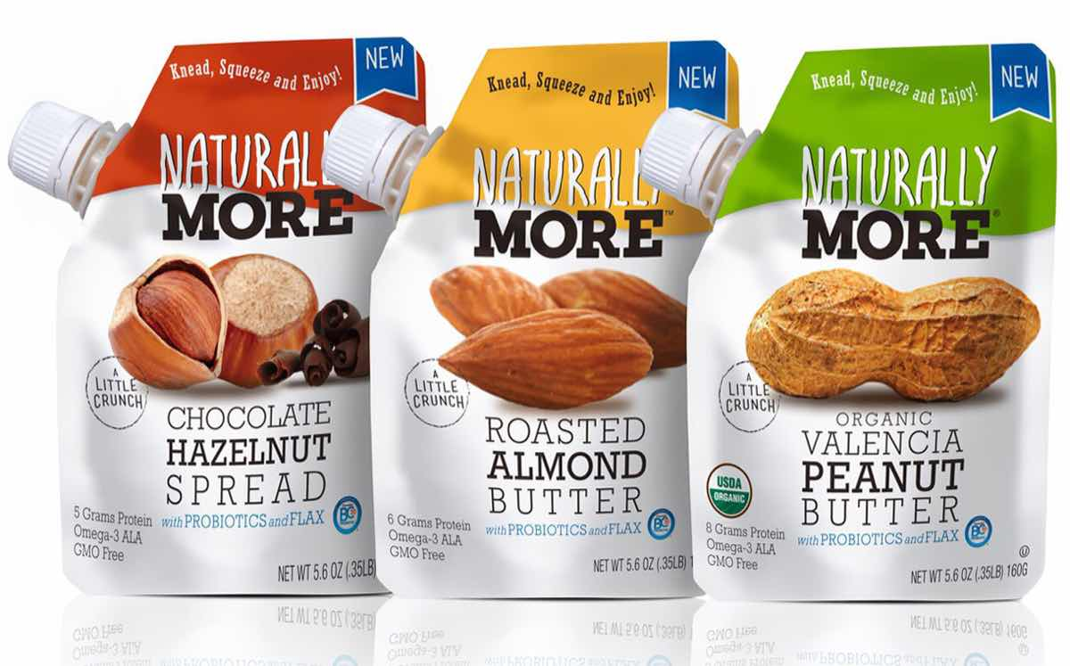 Naturally More develops range of probiotic-enriched nut butters