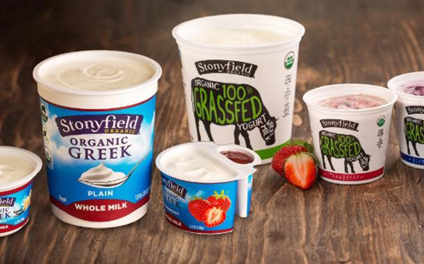Stonyfield to cut sugar content of its yogurts 'by 25%' this year