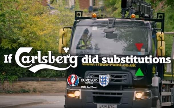 Carlsberg's Euro 2016 video advert banned for linking alcohol with building site