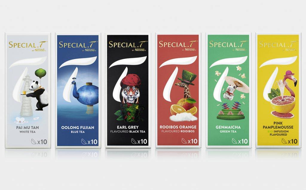 Nestl relaunches special t tea capsules with fresh new look foodbev media - Distributeur capsules special t ...