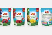 Dole launches two new lines of resealable fruit piece pouches