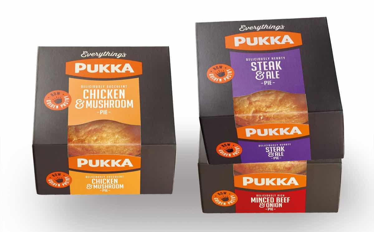 Pukka Pies relaunches packaging alongside £8m marketing support