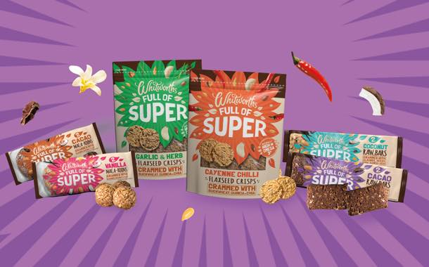 Whitworths unveils superfood snacks with flaxseed and maca