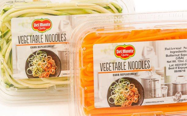 Del Monte launches six-strong range of vegetable noodles