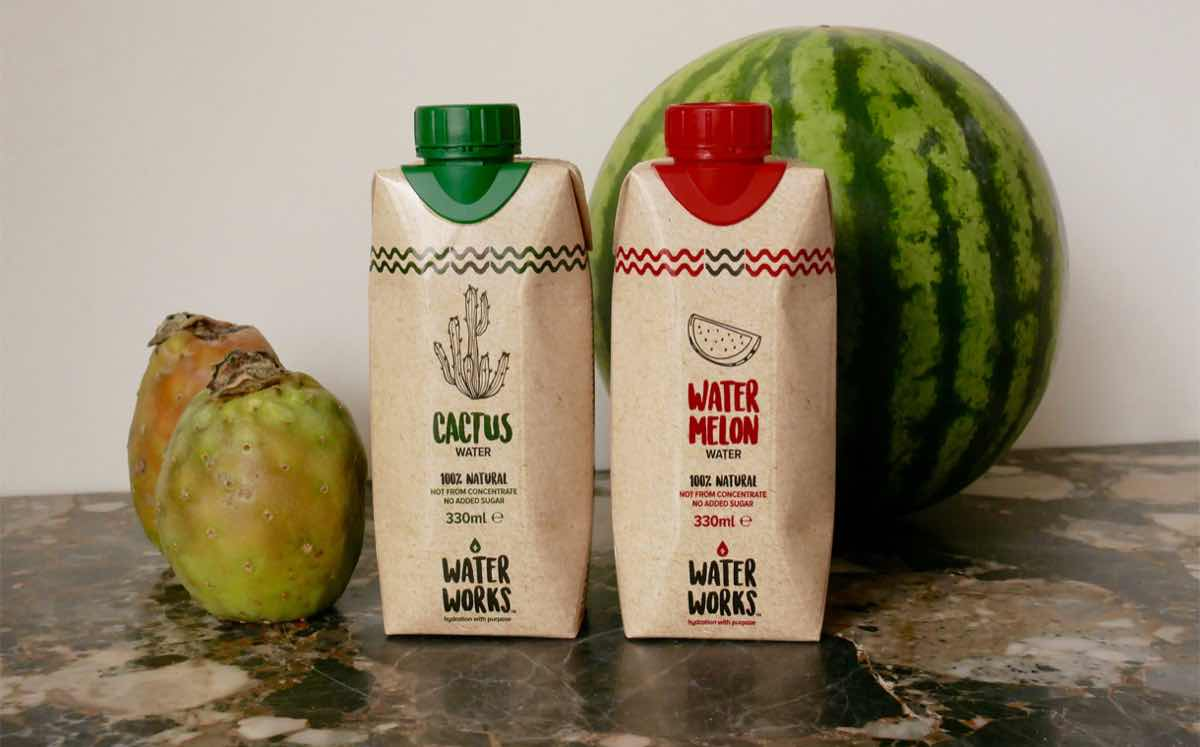 UK drinks start-up debuts new cactus and watermelon water