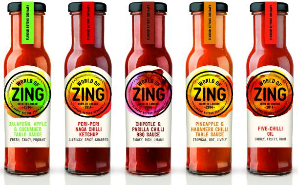 World of Zing sauce range aims to spice up condiments category